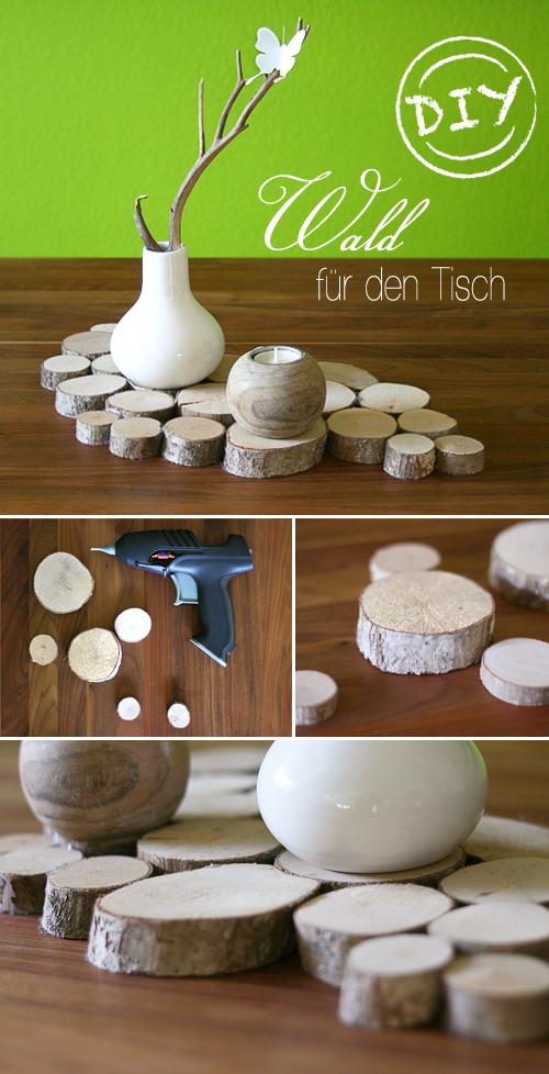 Tischdeko Aus Baumscheiben Gingered Things