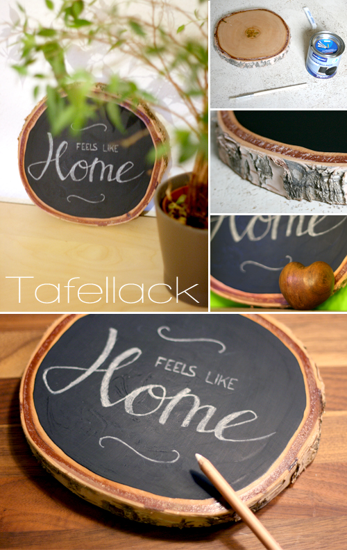 Tafellack und holz gingered things - Ideen mit tafelfarbe ...