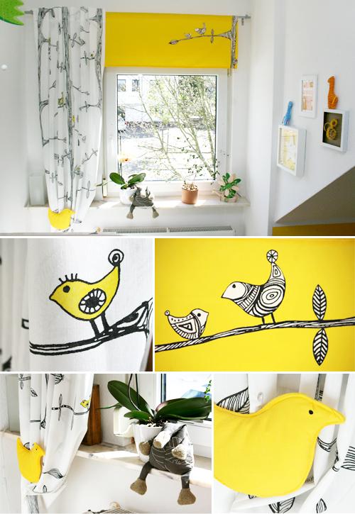 vorhang f r 39 s kinderzimmer gingered things. Black Bedroom Furniture Sets. Home Design Ideas