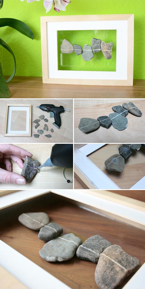 Schwebende Steine im Rahmen - Gingered Things