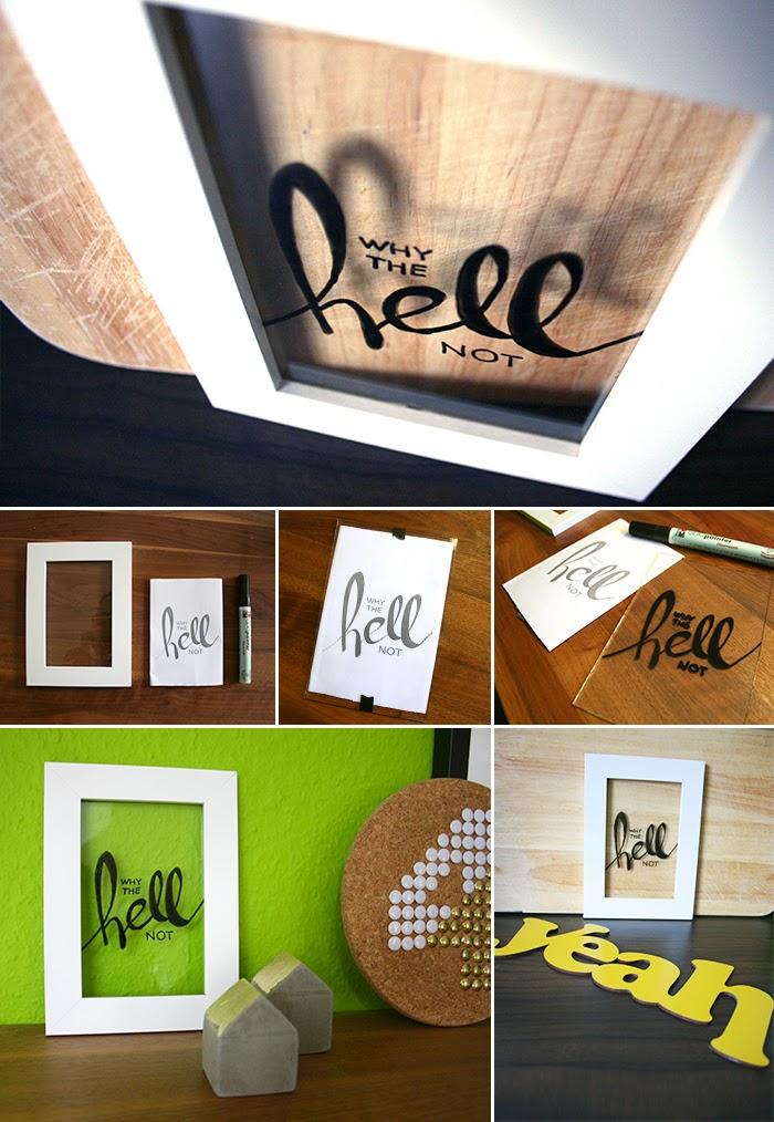 Do it yourself: Deko mit Glasmalerei und Bilderrahmen