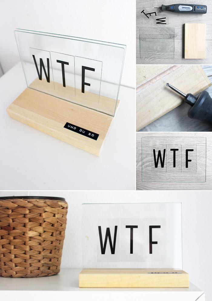 Do it yourself: Deko mit Lightboxbuchstaben basteln