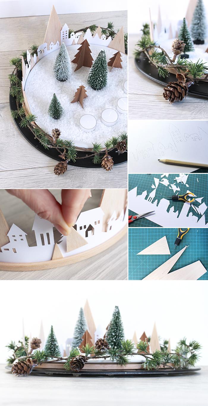 do it yourself kreativer adventskranz aus papier stickrahmen und balsa. Black Bedroom Furniture Sets. Home Design Ideas