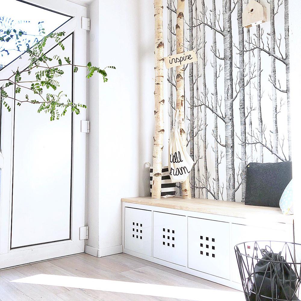 Selbst Gebaute Neue Garderobe Mit Birkenstämmen Gingered