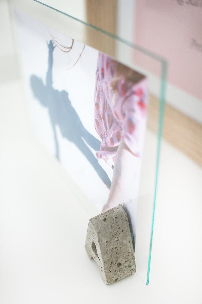 Bilderrahmen Aus Beton Und Glas Basteln