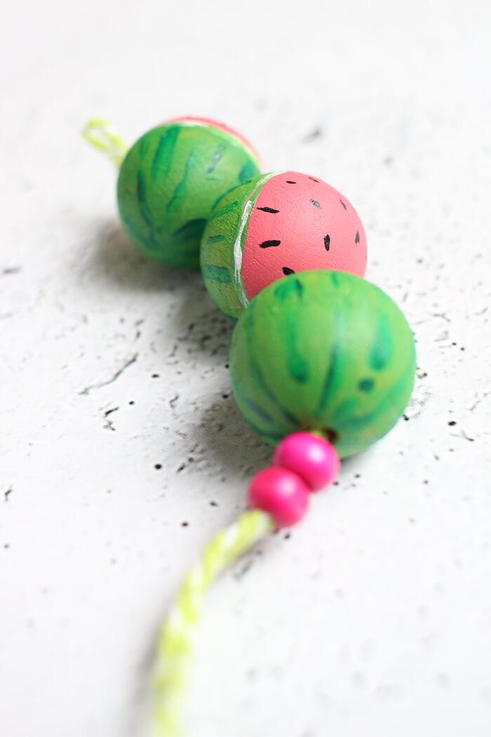 Diy Schlusselanhanger Im Wassermelonenstyle Basteln