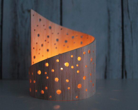 Lichtspiel aus Balsaholz bauen.
