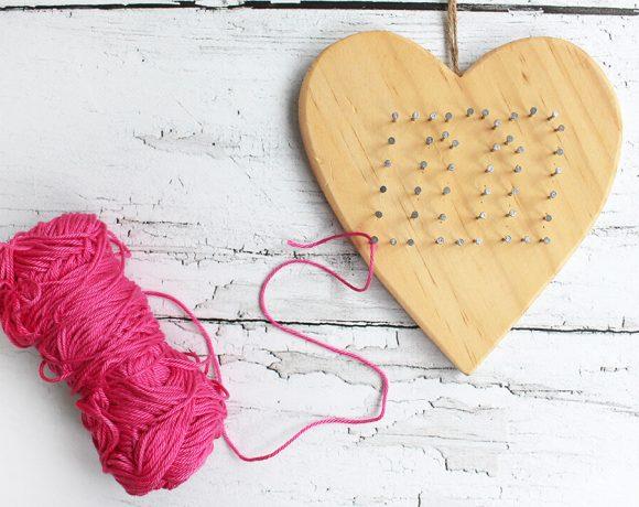 Valentinstagsgeschenk mit Holz und Wolle für missfixx.