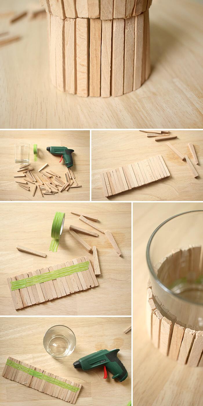 Anleitung zum Bau der Vase aus Fliesenkeilen