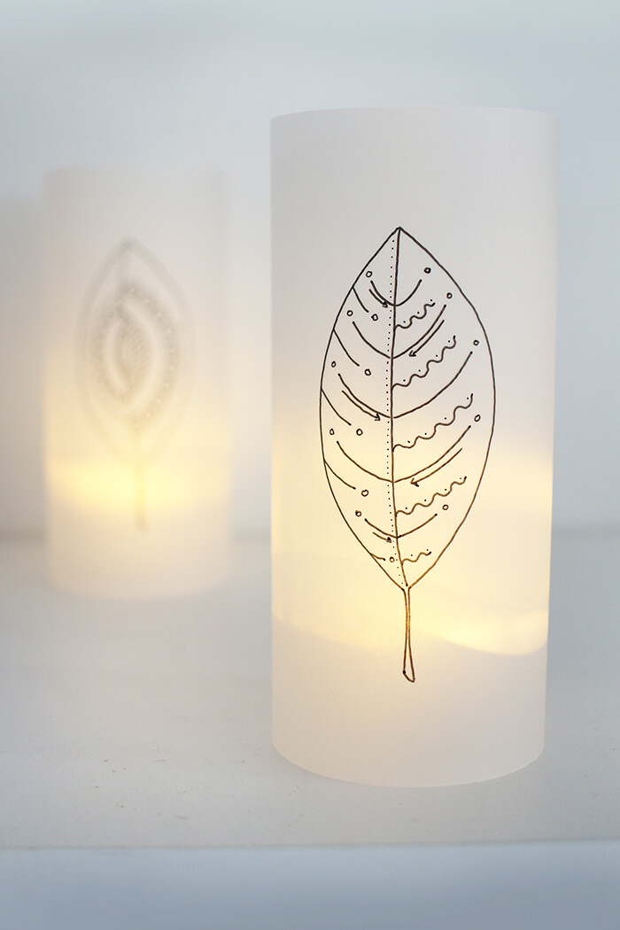 Do It Yourself Herbstlichter Aus Transparentpapier