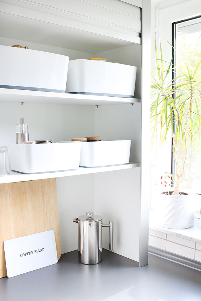 Aufräumen in der Küche mit myBox von Leitz