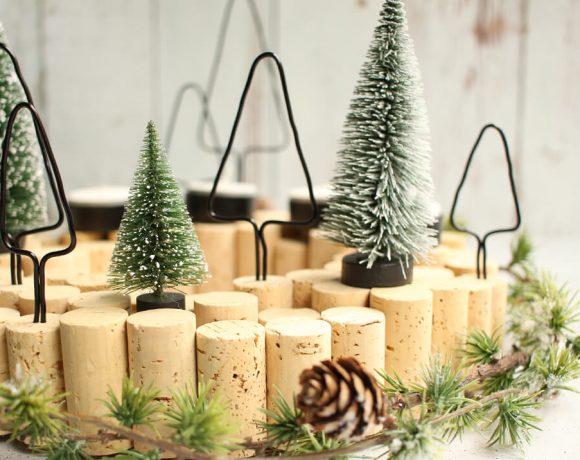 DIY Anleitung für einen Adventskranz aus Korken