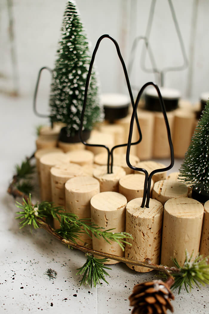 Do it yourself adventskranz mit korken selbst basteln - Pinterest adventskranz ...