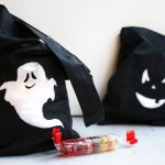 Leuchtende Tasche für Halloween basteln