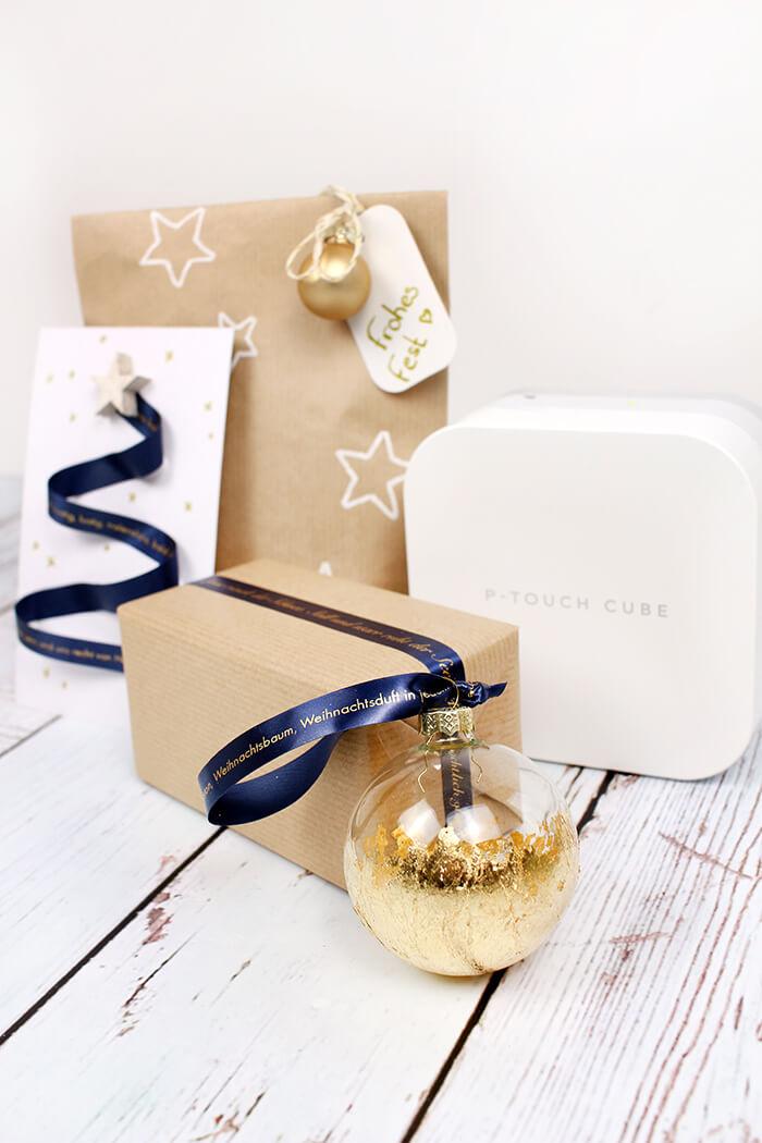 Do it yourself: Weihnachtliche Ideen für bedruckbare Geschenkbänder