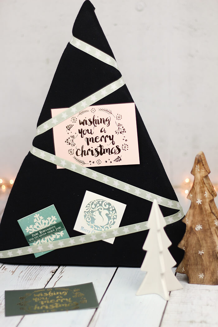 Pinnwand für Weihnachtspost für DIYnachten