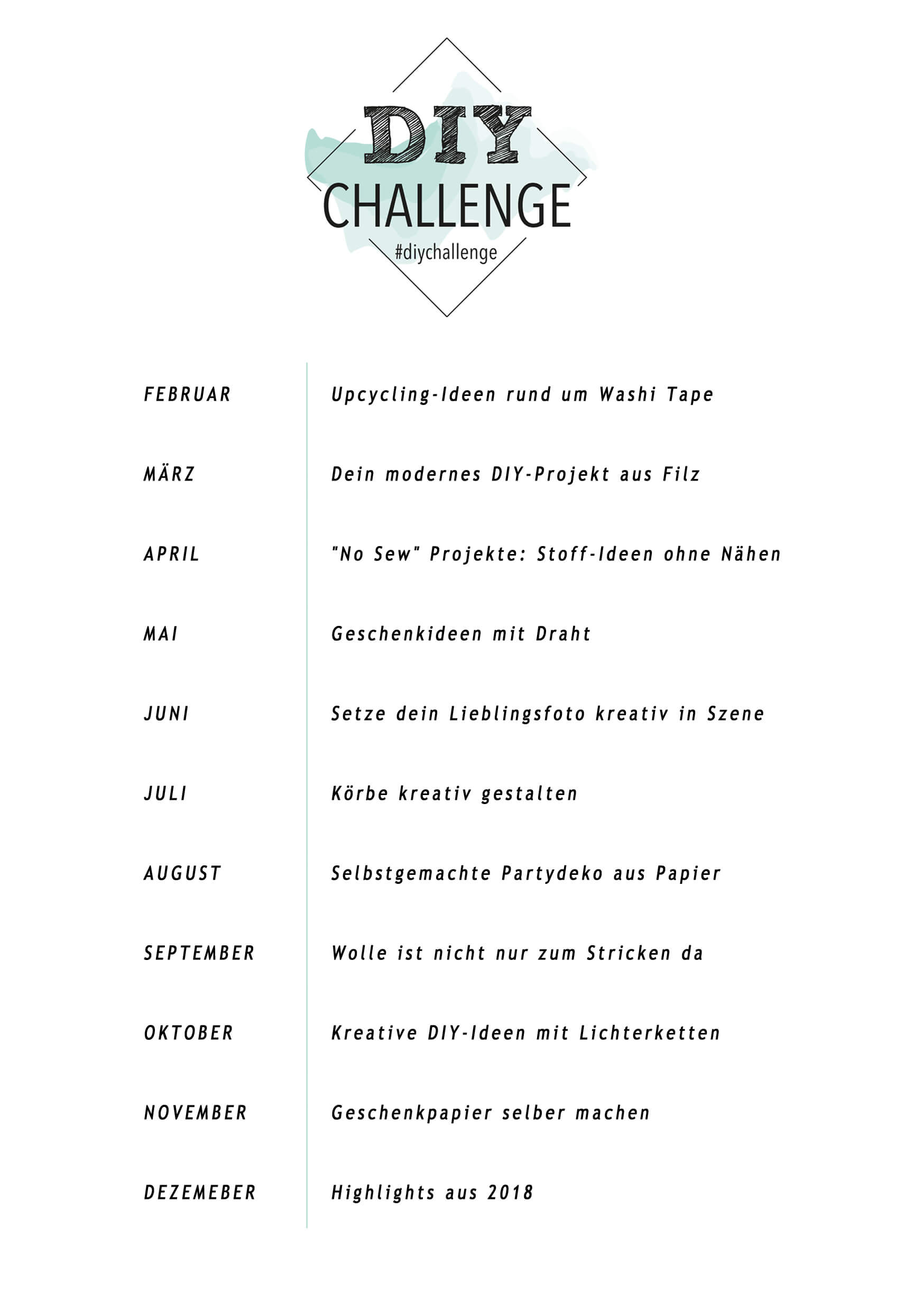 DIY Challenge 2018 - 5 Blogs 1000 Ideen