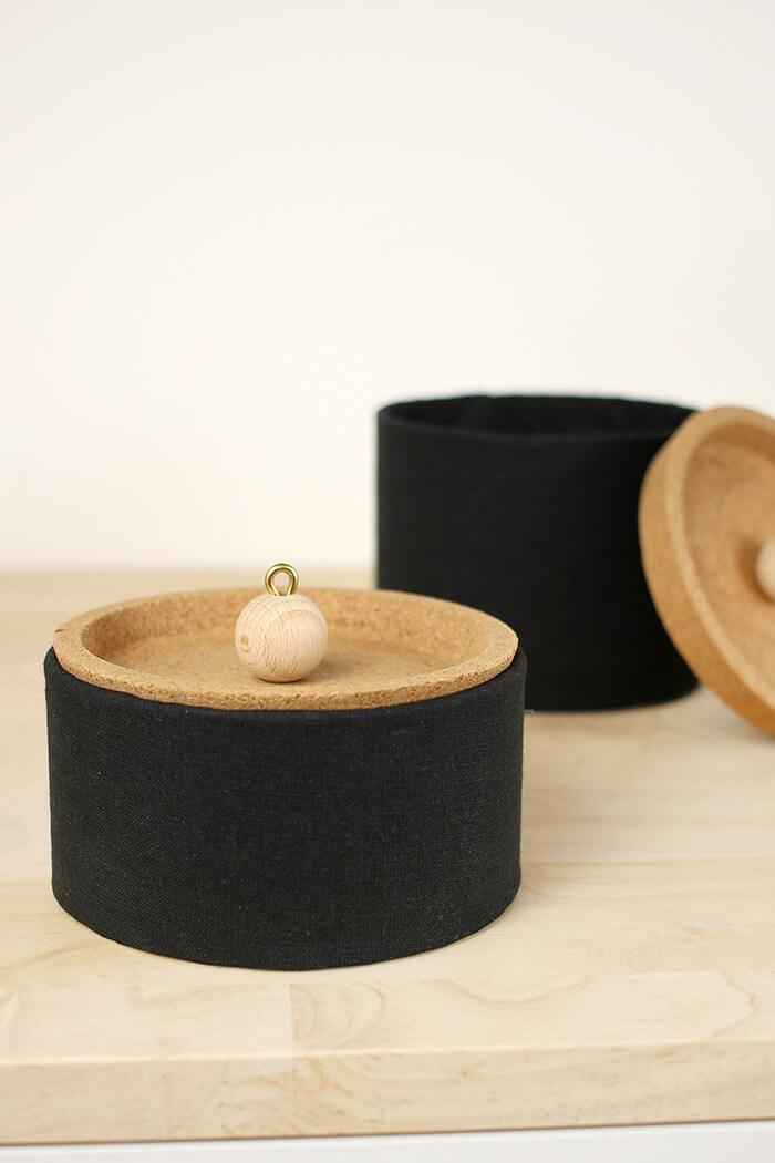 Dosen aus Papprollen mit Korkdeckel - DIY Dose selbst basteln