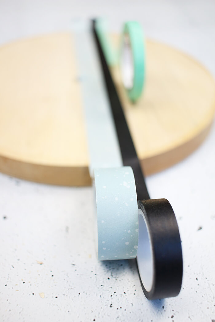DIY Challenge, Upcycling-Ideen mit Washi Tape, Uhr aus Drehteller selbst basteln - Gingered Things
