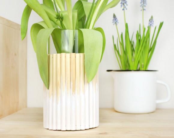 Vase aus Rundhölzern von Gingered Things