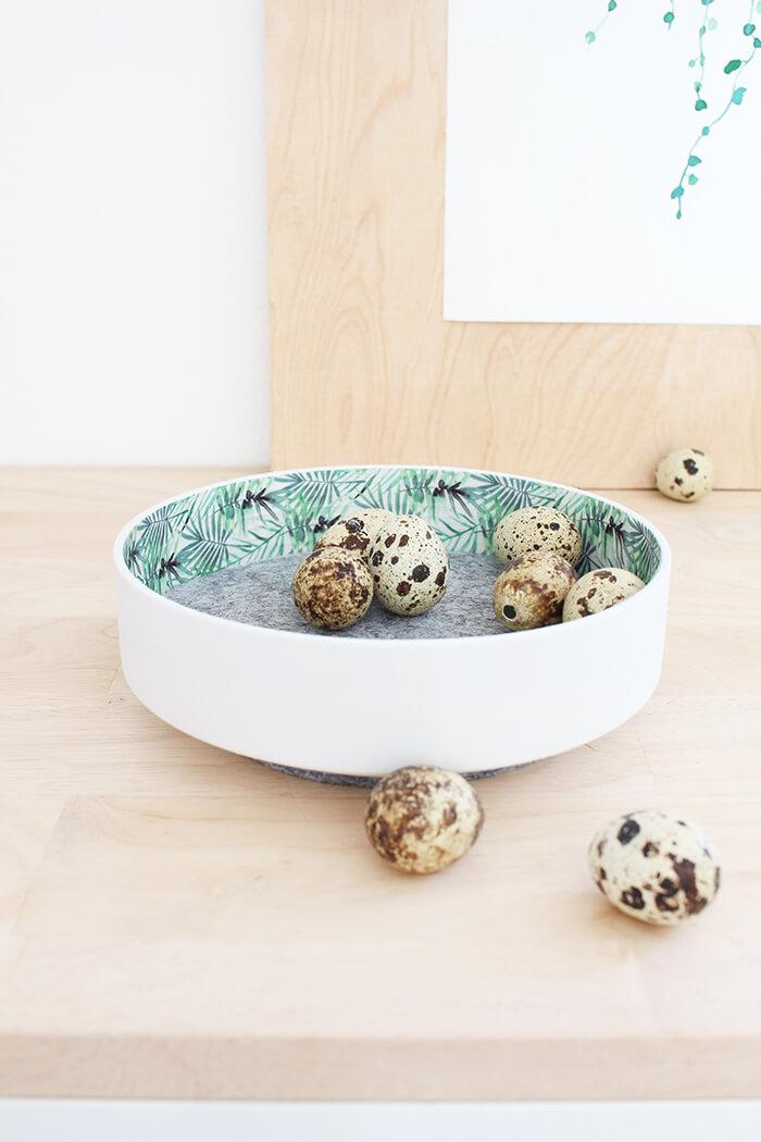 DIY Challenge, aus einer WC Flachrosette wird eine schicke Schale, Upcycling von Gingered Things