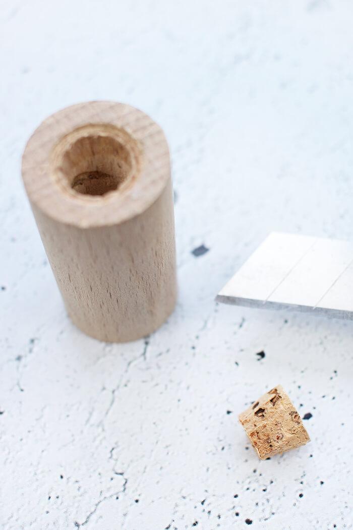 DIY Salzstreuer selbst aus Rundholz basteln. Gingered THings
