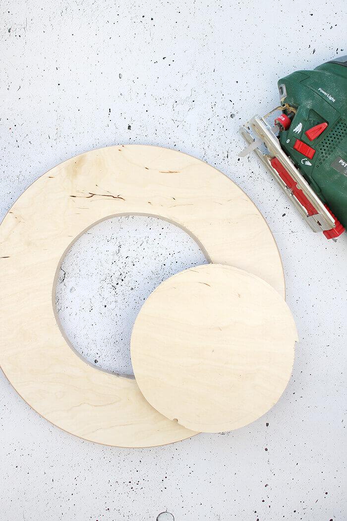 Kreis mit der Stichsäge aussägen - Gingered Things