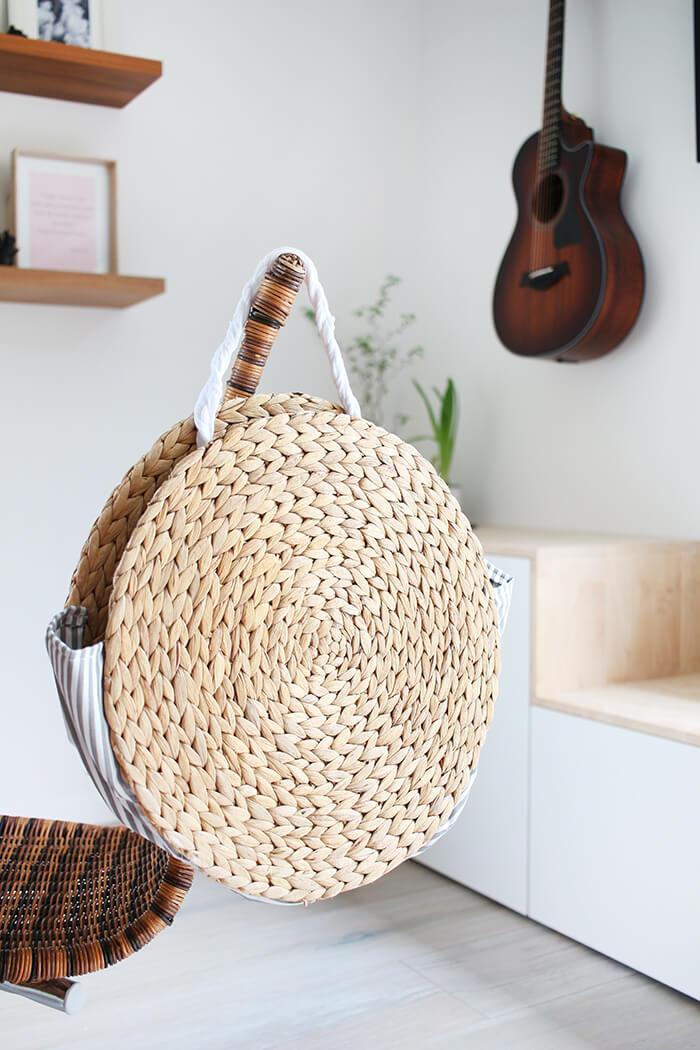 DIY Korbtasche aus Platzsets selbst basteln - Gingered Things