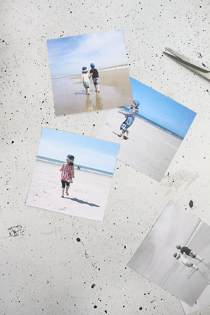 Lieblingsfotos der Kinder am Strand von Dänemark