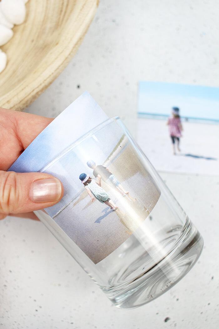 Lieblingsfoto einfach in das Glas geben