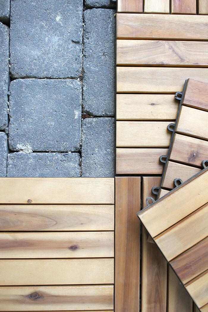 Holzfliesen mit Klicksystem