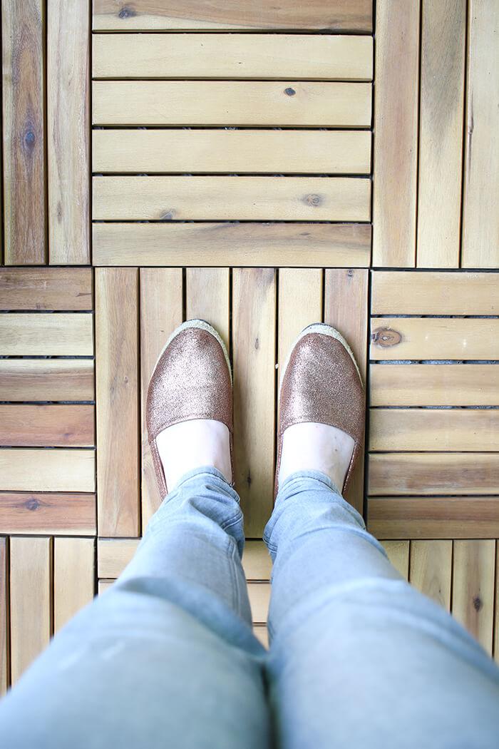 Holzfliesen aus Akazienholz