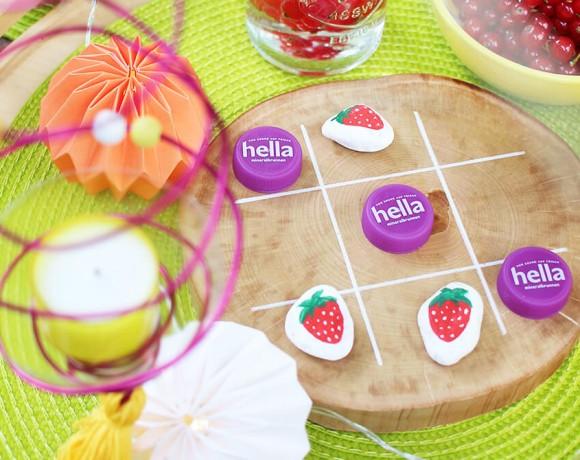 Upcycling mit hella und tahiti vibes, Windlicht und Tic Tac Toe Spiel basteln