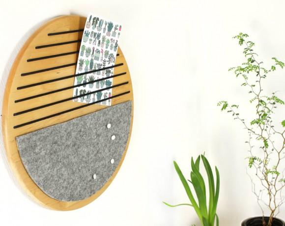 DIY Upcycling, wie aus einem alten Drehtteller ein Memoboard wird