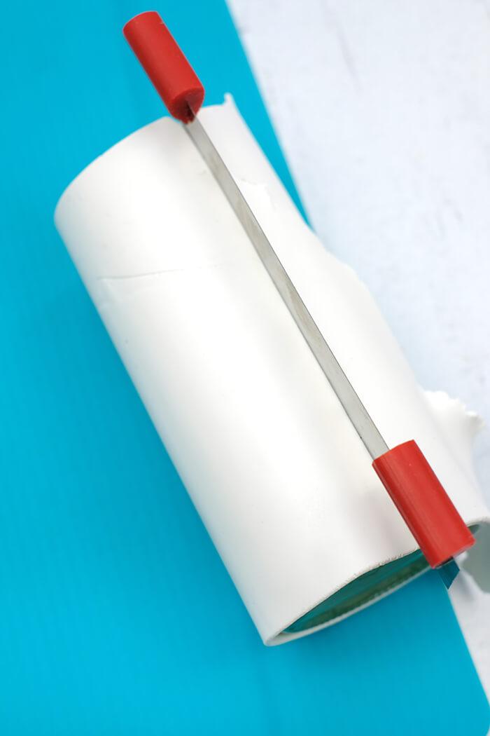 Glatte Kanten mit Hilfe eines Cutters