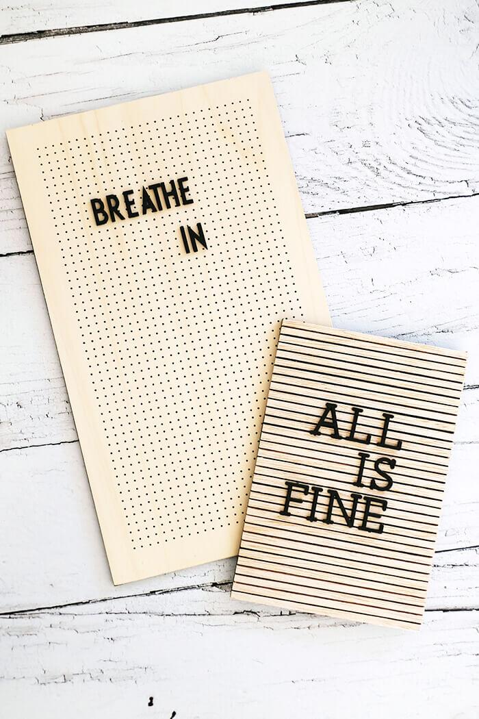 Welches Letterboard gefällt euch besser. Hier zwei Varianten aus Holz.