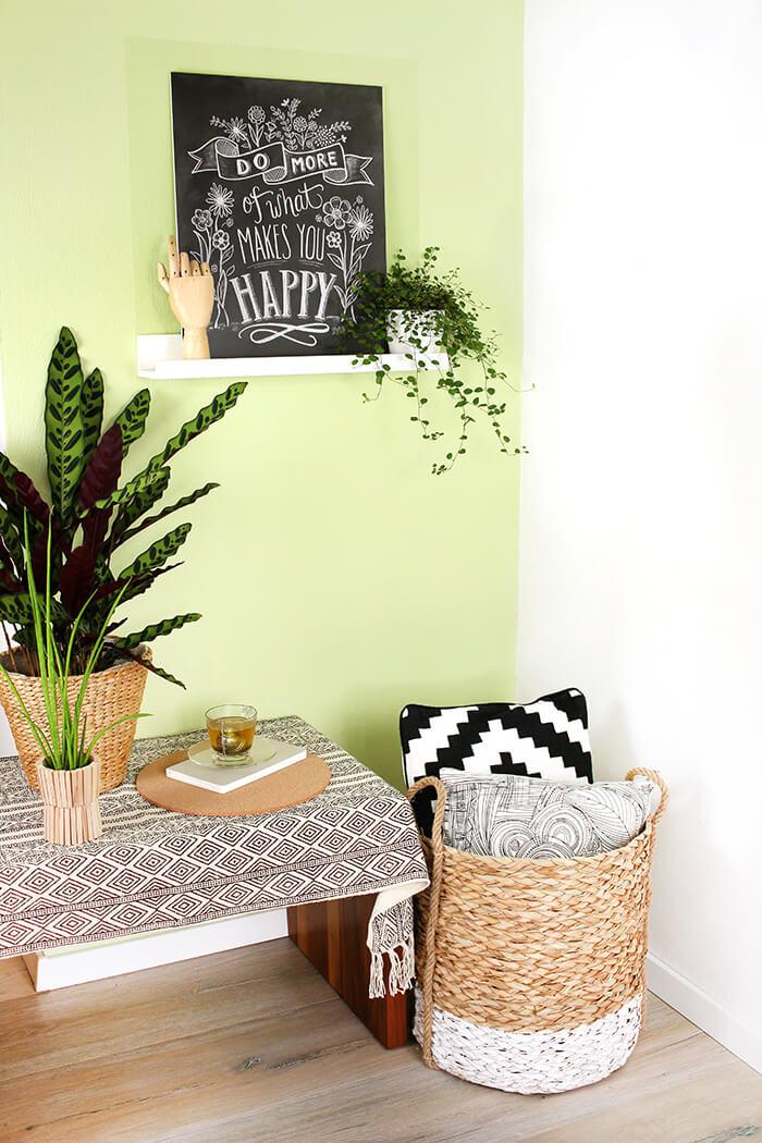 Wandgestaltung mit STILTALENT by toom green tea