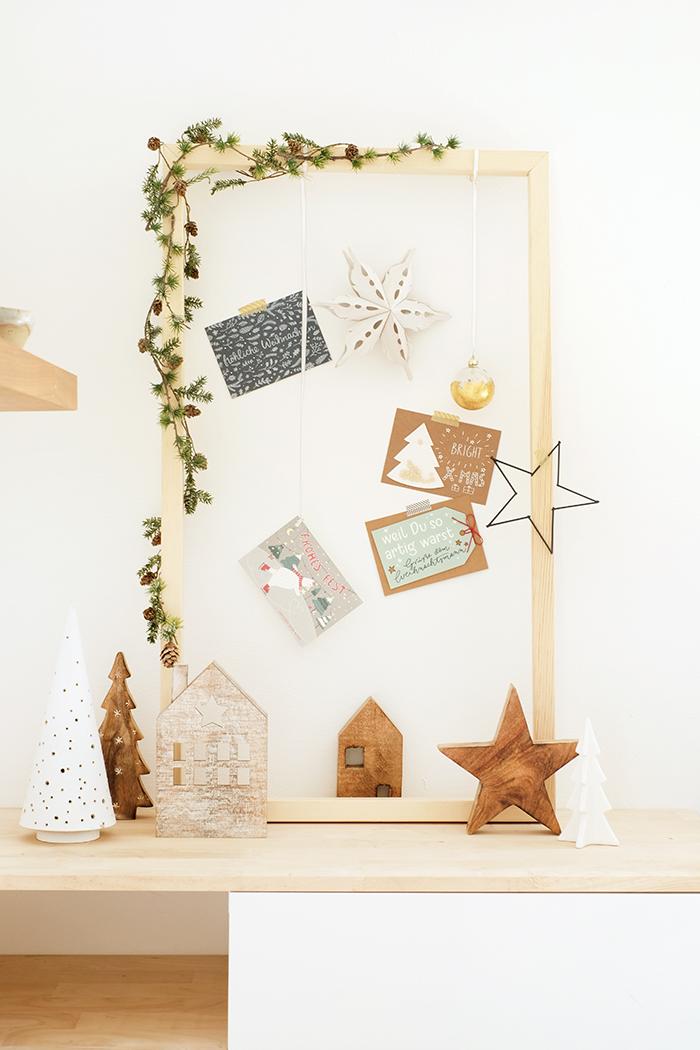DIYnachten, ein Rahmen für die Weihnachtspost mit wolfcraft und Gingered Things