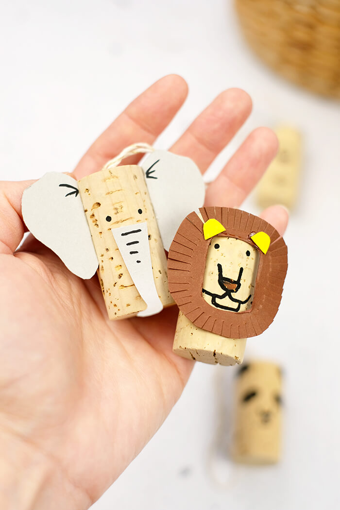 Geschenkanhänger aus Korken