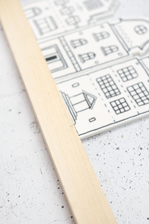 DIY Dekohäuschen und Duftverteiler aus Fimo - Holz für die Rückseite