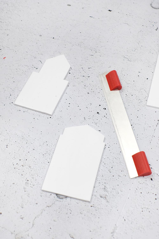 DIY Dekohäuschen und Duftverteiler aus Fimo - zurechtschneiden
