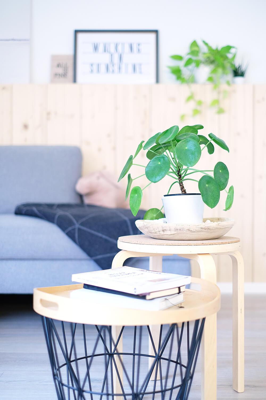 DIY Holzwand aus Fichte für den skandinavischen gemütlichen look im WOhnzimmer