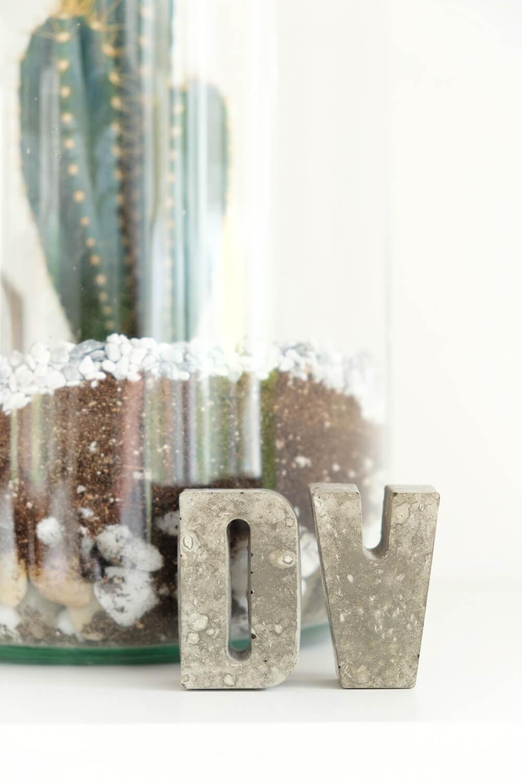 Betonbuchstaben aus Kreativ Beton