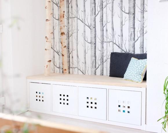 DIY Garderobe aus Birkenstämmen von Gingered Things
