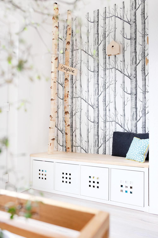 DIY Garderobe mit Birkenstämmen von Gingered Things