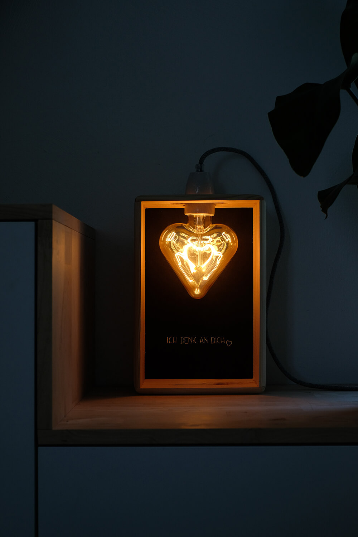 DIY LED Lampe zum selber machen - bei Nacht