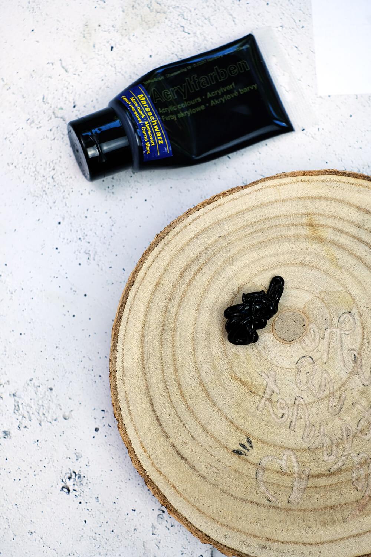 DIY Challenge, Stempel mit Holscheibe selbst machen - Gingered Things