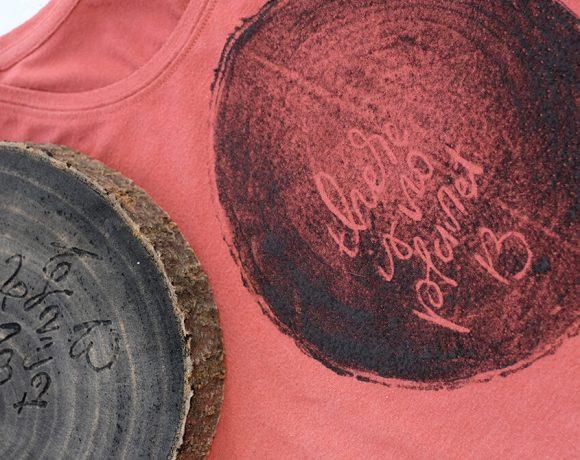 DIY Challenge, Stemepl selbst machen aus einer Baumscheibe - Gingered Things