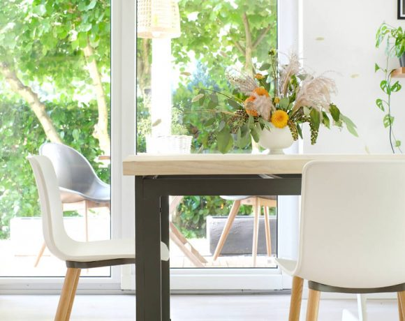 DIY Makeover für den Gartentisch mit Holzdielen in zusammenarbeit mit Bosch Home & Garden