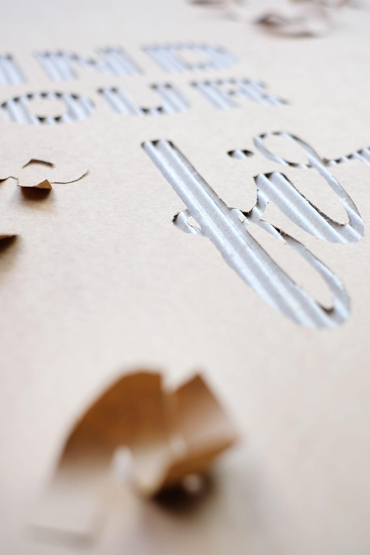DIY Challenge - Wie aus Karton Kunst wird - Gingered Things